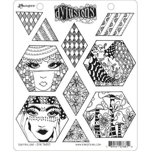 Ranger Dylusions by Dyan Reaveley Unmounted Rubber Stamp Set - Quiltalicious (DYR76810)