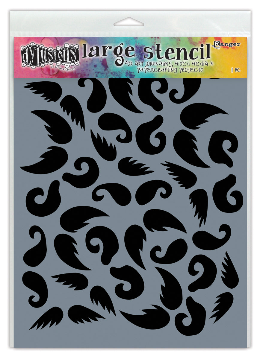 Dylusions Stencil STASH OF ´TACHE - LG DYS49807