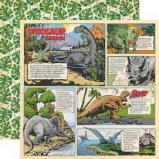 "Carta Bella Paper Co. Dinosaurs Collection 12"" x 12"" Paper - Dino Comic Strip (CBDI110013)"
