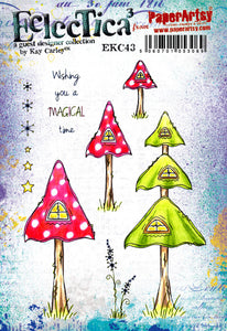 PaperArtsy Eclectica3 Stamp Set by Kay Carley - Magical Time (EKC43)