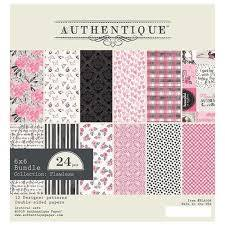 Authentique - 6x6 Paper Pad- Flawless Collection (FLA008)