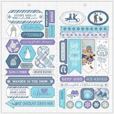 "Authentique Frosted Collection - 12"" x 12"" Elements (FRS007)"