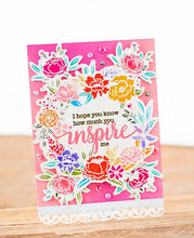 Load image into Gallery viewer, Pinkfresh Studio Photopolymer Clear Stamp Set + Cooridinating Die - Floral Cluster (PFCC1919/PFCS1919)