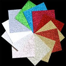 Load image into Gallery viewer, Memory Box 6x6 Shimmering Cardstock - Holiday Glitter Pad (GP1005)