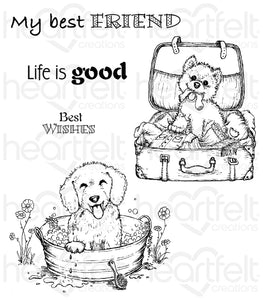 Heartfelt Creations- Pampered Pooch Cling Stamp HCPC3762