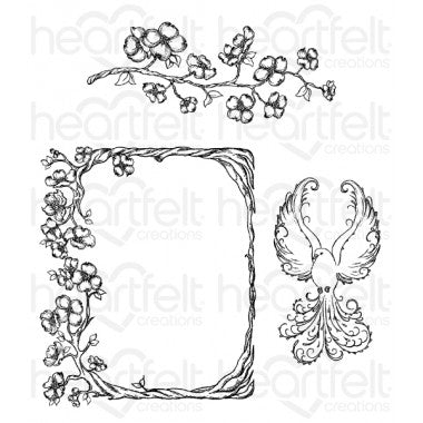 Heartfelt Creations Cling Stamps- Flowering Dogwood Branches HCPC-3774