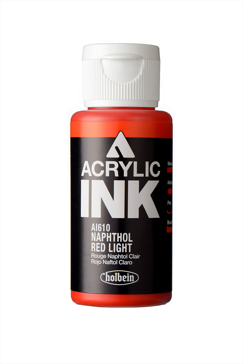 Holbein Paint Marker- Acrylic Ink- Naphthol Red Light (AI610)