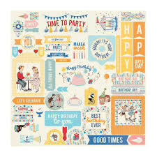Authentique Cardstock Die Cut Elements - Hooray Collection (HRY009)