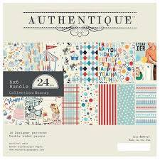 Authentique - 6x6 Paper Pad - Hooray Collection (HRY010)