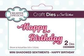 Creative Expressions Craft Dies by Sue Wilson - Happy Birthday (CEDSS009)