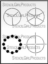 "Load image into Gallery viewer, StencilGirl Products- 9"" x 12"" Simple Color Wheels Stencil (L151)"