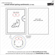 Load image into Gallery viewer, Lawnfawn Photopolymer Clear Stamps - Reveal Wheel Spring Sentiments (LF1900)