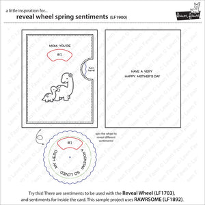 Lawnfawn Photopolymer Clear Stamps - Reveal Wheel Spring Sentiments (LF1900)
