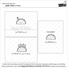 Load image into Gallery viewer, Lawnfawn Photopolymer Clear Stamps - Year Nine (LF1901)