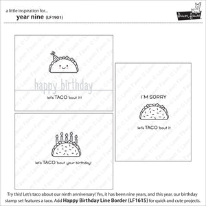 Lawnfawn Photopolymer Clear Stamps - Year Nine (LF1901)