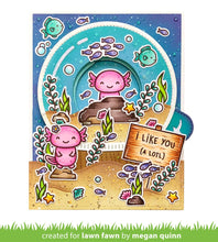 Load image into Gallery viewer, Lawn Fawn Lawn Cuts Custom Craft Dies & Clear Stamp Set - I Like You (A Lotl) (LF2464/2465)