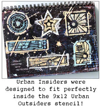 "Load image into Gallery viewer, StencilGirl Products- 4"" by 4"" Seth Apter Urban Insiders Circle (M057)"