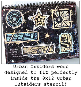 "StencilGirl Products- 4"" by 4"" Seth Apter Urban Insiders Circle (M057)"