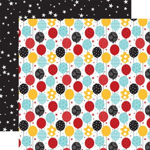 Echo Park Paper Co. 12x12 Scrapbook Paper - Magical Birthday Boy Balloons (MBB232008)