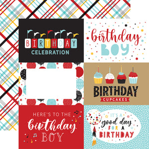 Echo Park Paper Co. 12x12 Scrapbook Paper - Magical Birthday Boy 6x4 Journaling Cards  (MBB232009)