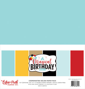Echo Park Paper Co. Coordinating Solids Paper Pack - Magical Birthday Boy (MBB232015)