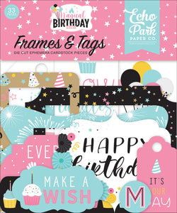 Echo Park Paper Co. Frames & Tags - Magical Birthday Girl (MBG231025)