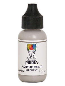 Dina Wakley Acrylic Paint- Elephant Paint 1oz bottle (MDQ53989)