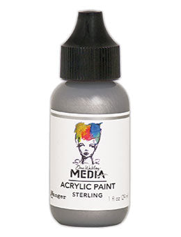 Dina Wakley Acrylic Paint -Sterling 1oz bottle (MDQ54153)