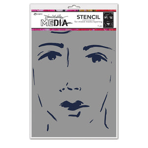 Dina Wakley MEdia She Sees Stencil - MDS69256