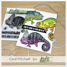 Load image into Gallery viewer, Picket Fence Studios Clear Stamp Charles the Chameleon