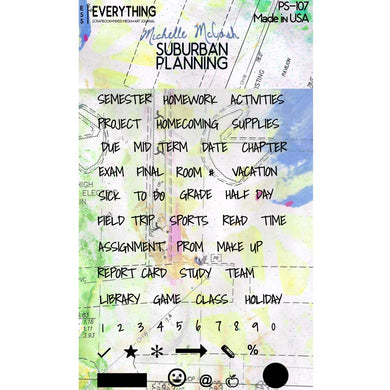 Suburban Planning Planner Stamp Set PS107