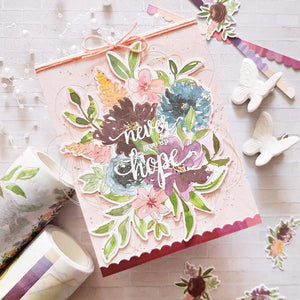 Pinkfresh Studio Photopolymer Clear Stamp Set + Cooridinating Die - Floral Cluster (PFCC1919/PFCS1919)