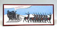 Load image into Gallery viewer, Impression Obsession Rubber Stamps - Slim Scenes - Snowy Night (3235-LG)