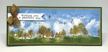 Load image into Gallery viewer, Impression Obsession Rubber Stamps - Slim Scenes - Cloudy Sky (3232-LG)