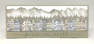 Impression Obsession Rubber Stamps - Slim Scenes - Town (3233-LG)