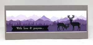 Impression Obsession Rubber Stamps - Slim Scenes - Large Mountain Layers (3226-LG)