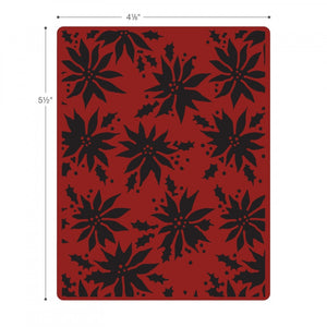 Sizzix Tim Holtz Texture Fades Embossing Folder - Poinsettias Item #662433 - Retired