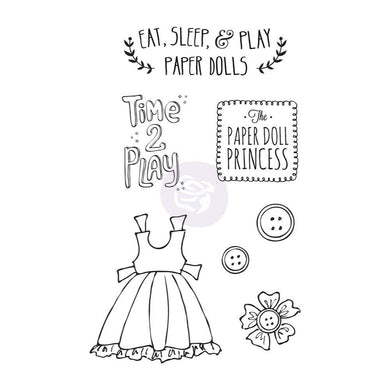 Prima-Marketing-Cling-Stamps-Mixed-Media-Doll-Play-Time-by-Julie-Nutting-