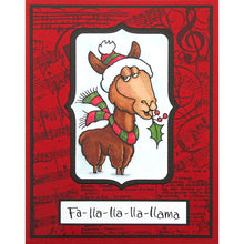Load image into Gallery viewer, Stampendous Fran's Cling Rubber Stamps- Fa La Llama (QS5005)