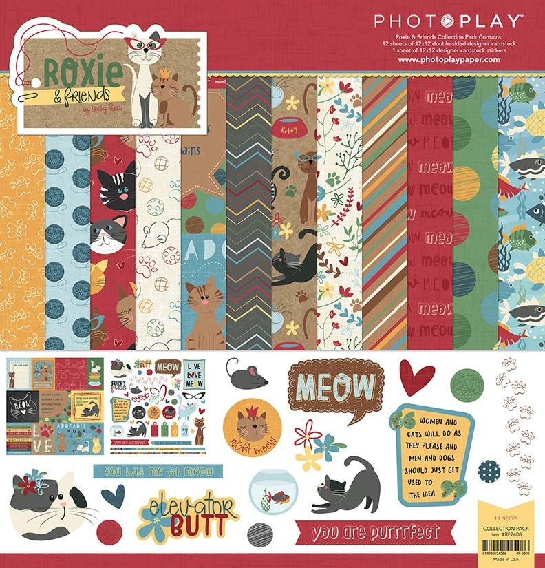 Photoplay 12X12 Collection Kit - Roxie & Friends by Becky Fleck (RF2408)