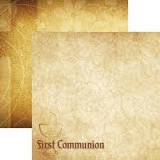 "Reminisce 12"" x 12"" Scrapbook Paper - Rites of Passage Collection - First Communion (RP-001)"