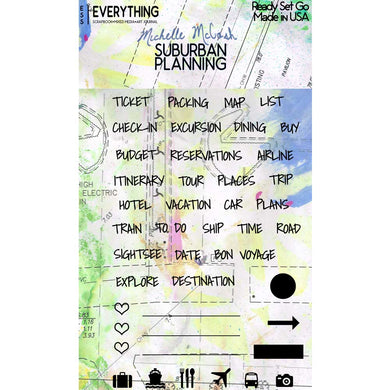 Suburban Planning Planner Stamp Set Ready Set Go