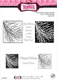 The Rubber Cafe Cling Mount Rubber Stamp - Warm Wishes (S-111)