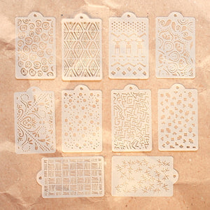 Elizabeth Craft Designs Art Journal Specials - Pattern Stencil Pack (S040)