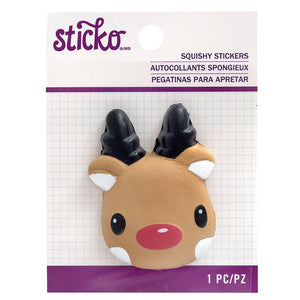 American Crafts Sticko Squisy Stickers - Reindeer Face (52-45259)