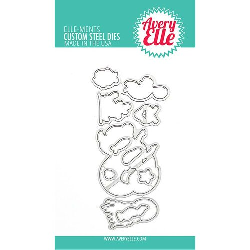 Avery Elle Elle-ments Custom Steel Dies Underwater Friends (D-21-02)