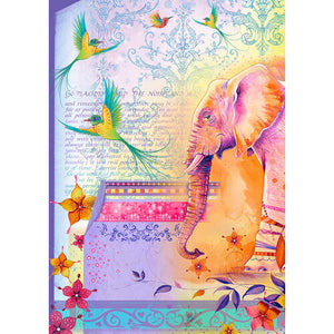 Pink Ink Designs Rice Papers to Inspire - Elephants & Flamingos (PIRIC01)