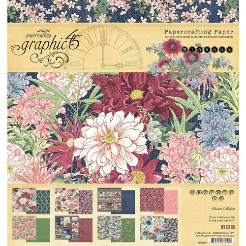 Graphic 45 Papercrafting Paper - 8x8 Paper Pad - Blossom Collection (4502159)