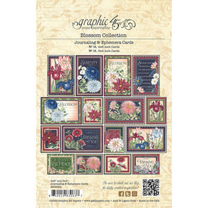 Graphic 45 Journaling & Ephemera Cards - Blossom Collection (4502164)