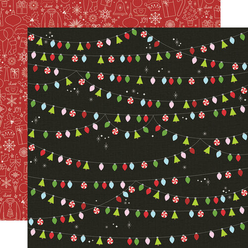 Simple Stories Say Cheese Christmas 12x12 Double Sided Paper - Christmas Magic (11508)